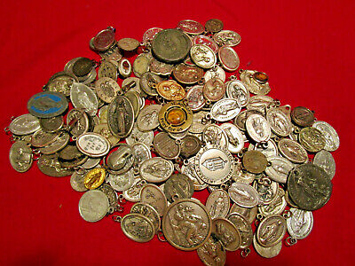 Vintage Christian Religious Catholic Medals BIG LOT 125+ Pieces Good Variety #5