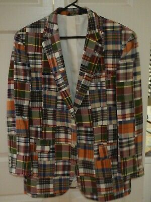 Jos. A. Bank Madras plaid sport coat Medium NWOT never worn Retro