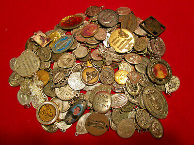 Vintage Christian Religious Catholic Medals BIG LOT 140+ Pieces Good Variety #6
