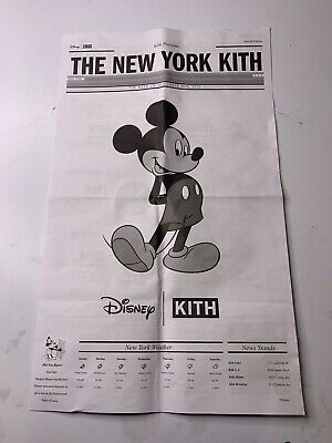 Kith x Disney Mickey Mouse Newspaper New York Promo Collectible