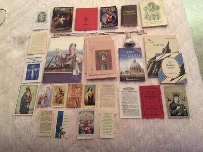 Catholic Lot of Books, Booklets, Pamphlets, Prayer Cards, etc.