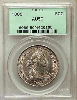 1805 Draped Bust Half Dollar **Beautiful**  +++ Certified Pcgs Au-50 Ogh +++