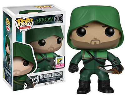 Funko Pop! The Arrow: Unmasked (Arrow) 208 - 2015 SDCC Exclusive [Damaged: 6.5/1