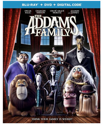 """""""THE ADDAMS FAMILY"""" [BLU-ray + DVD + Digital Code] Factory Sealed w Slipcover"""