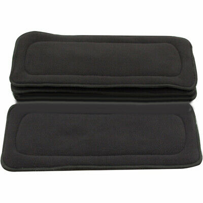 4 Layers Bamboo Charcoal Fiber Babies Cloth Diaper Nappies Inserts Washable Wide