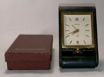 Vintage, Jaeger-LeCoultre,Traveling Alarm Clock with Box & Papers (Circa 1950's)