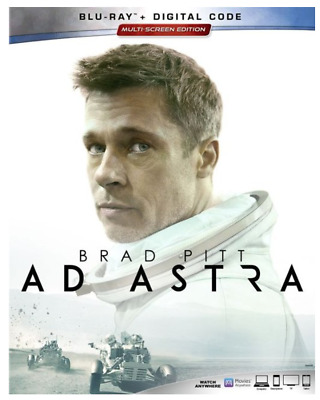 """AD ASTRA"" - Brad Pitt  [Blu-ray + Digital] - NEW/Factory Sealed + Slipcover"
