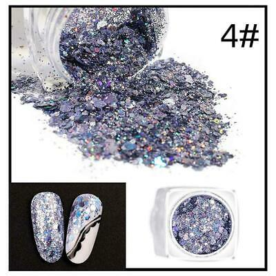 Hybrid Sequin Glitter Colorful Glitter Pots Nail Face Body Shadow NEW Makeu T9Y7