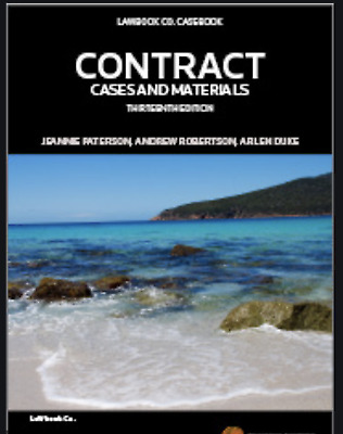 PDF: Contract Cases and Materials 13th edition by Jeannie Paterson, Andrew Robe