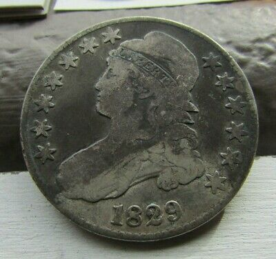1829 ~ Capped Bust ~ Half Dollar 50c ~ Neat old Coin!!