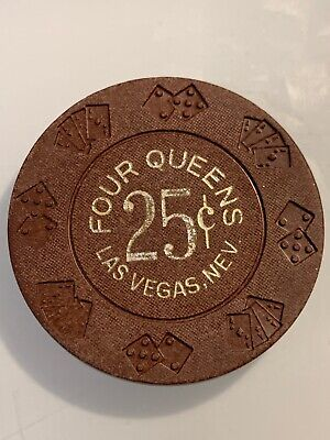 Four 4 Queens $.25 Casino Chip Las Vegas Nevada 3.99 Shipping