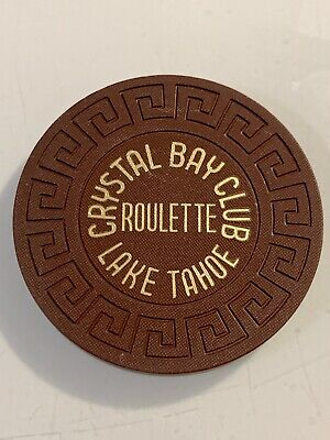 CRYSTAL BAY CLUB ROULETTE Casino Chip LAKE TAHOE Nevada 3.99 Shipping