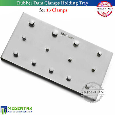 Medentra® Dental Rubber Dam Clamps Holding Tray For 13Pcs Endodontic Instruments