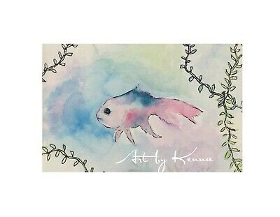 Whimsy Fish 🐠 12cm X 16cm Watercolour Painting By Kenna Unframed Original