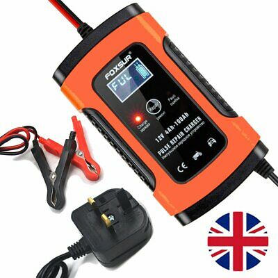 Battery Charger 12V 5A LCD Intelligent Automobile Motorbike Pulse Repair 4-100Ah