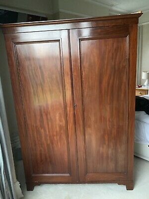 Handsome Antique double wardrobe armoire