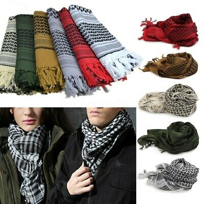 Mens Women Army Military Tactical Keffiyeh Shemagh Arab Scarf Head Wrap Scarves