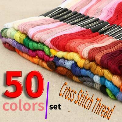 Sewing Egyptian Cotton Embroidery Cross StitchThread Floss Hand Skeins -50colors