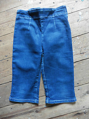 Vintage BHS Capri Trousers/shorts Age 5 -6 116cm  Cotton Denim Excellent Cond