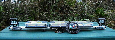 120CM ( 4ft )140w BEACON BAR TWIN WORKLIGHTS AMBER/RED LEDS & CONTROL BOX/CABLE