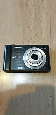 Sony Cyber-shot DSC-W800 20.1MP Digital Camera Black 5x Zoom 720p please Read!!