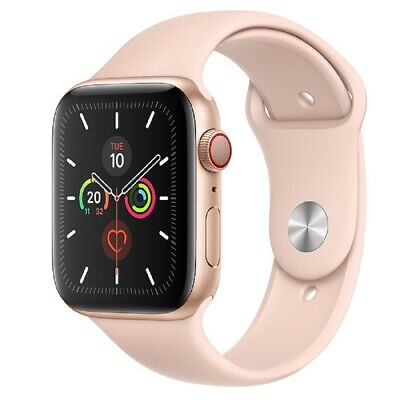 Apple Watch Series 5 GPS+Cellular 44mm Aluminium Gold Rosa Sportarmband