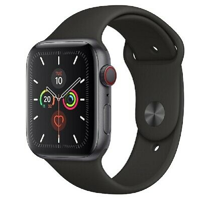 Apple Watch Series 5 GPS+Cellular 44mm Aluminium Grau Schwarz Sportband
