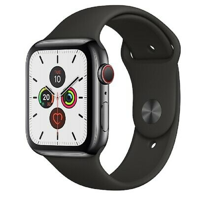 Apple Watch Series 5 GPS+Cellular 44mm Schwarz Sportarmband