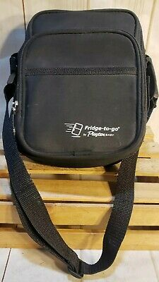 Fridge To Go Bottle Cooler By Playtex Baby Ice Pack Pockets Black w/Strap