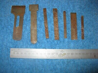 Set of blades for plough / rebate plane,