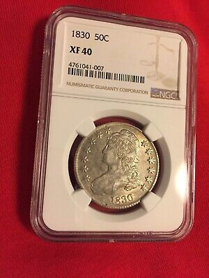 1830 CAPPED BUST HALF DOLLAR NGC XF40 Small 0 Really Nice Luster And Eye Appeal