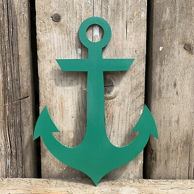 Rustic GREEN Anchor Ship Boat Nautical Sign Shop Bar Cafe Restaurant Decoration