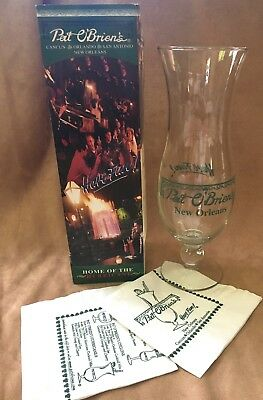 "Collectible Pat O'Briens New Orleans ""Home of the Hurricane""  Glass in Box"