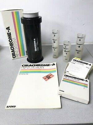 Ilford Cibachrome A Print system Developing tank Filters Manual Chem containers