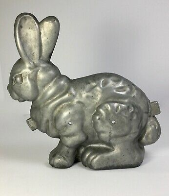 Vintage Large Bunny Shaped Ice Cream Mold—One Side—Great For Display