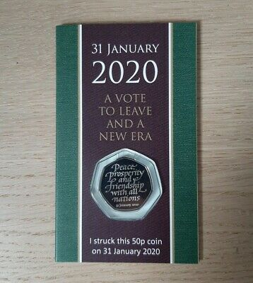 Brexit 50p Strike Your Own SYO Coin 31 January 2020 First Day Packaging