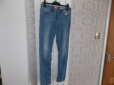 Boys Girls Hugo Boss Slim Fit Stretch Straight Leg Blue Jeans Age 12-13