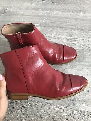 Zara Girls Red Ankle/chelsea Boots