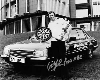 SALE JOHN LOWE DARTS HAND SIGNED PHOTO AUTHENTIC + COA - 10x8
