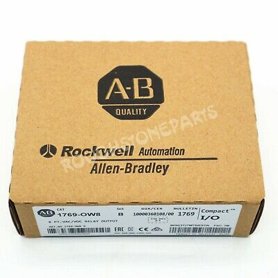 New Sealed Allen-Bradley 1769-OW8 Compact 8 PT VAC/VDC RELAY OUTPUT Module