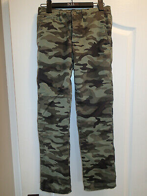 Boys GAP Flannel Lined Camo Chinos Pants – Size 14R