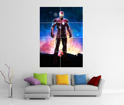 Iron Man Hulk Buster Large Wall Art Poster Print A3//A4 Sections or Giant 1Piece