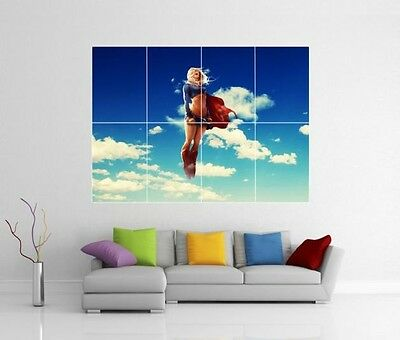 Supergirl TV Show Wall Art Poster Print A4 Sections or Giant 1Piece A3