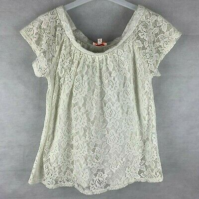 Bluezoo Girls Age 12-13 Years White Broderie Anglaise Bardot Shoulder Top
