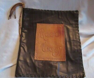Retro Vintage Leather Radio Times Cover 2 Toned Embossed with Tassel
