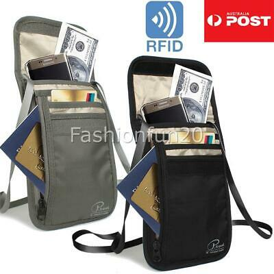 RFID Blocking Anti Scan Travel Passport Credit Card Wallet Holder Pouch OZ