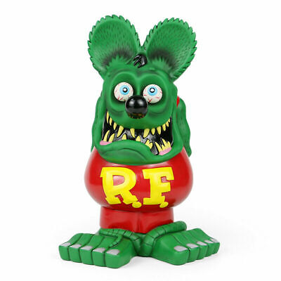 "13"" Green Red RAT FINK Action Figure Big ""Daddy"" Ed Roth Statue Model Toy"