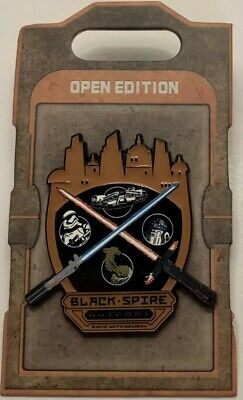 Disney - Galaxys Edge Black Spire Outpost Star Wars - Crossed Lightsabers Pin