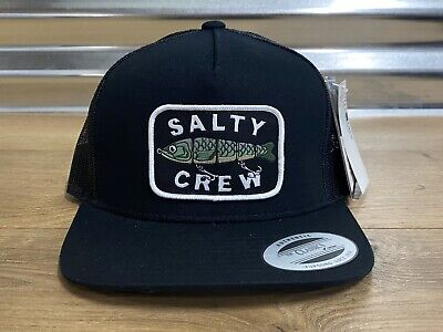 Salty Crew Paddle Tail Boys Snapback Hat Cap Black One Size ( 35035212Y )