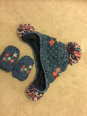 baby girl winter hat and scarf set next 3-9month